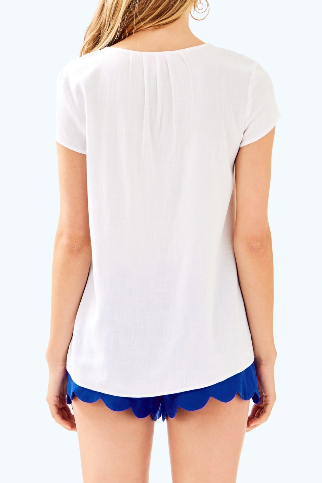 Lilly Pulitzer Sea Ave Top - Front Full Image