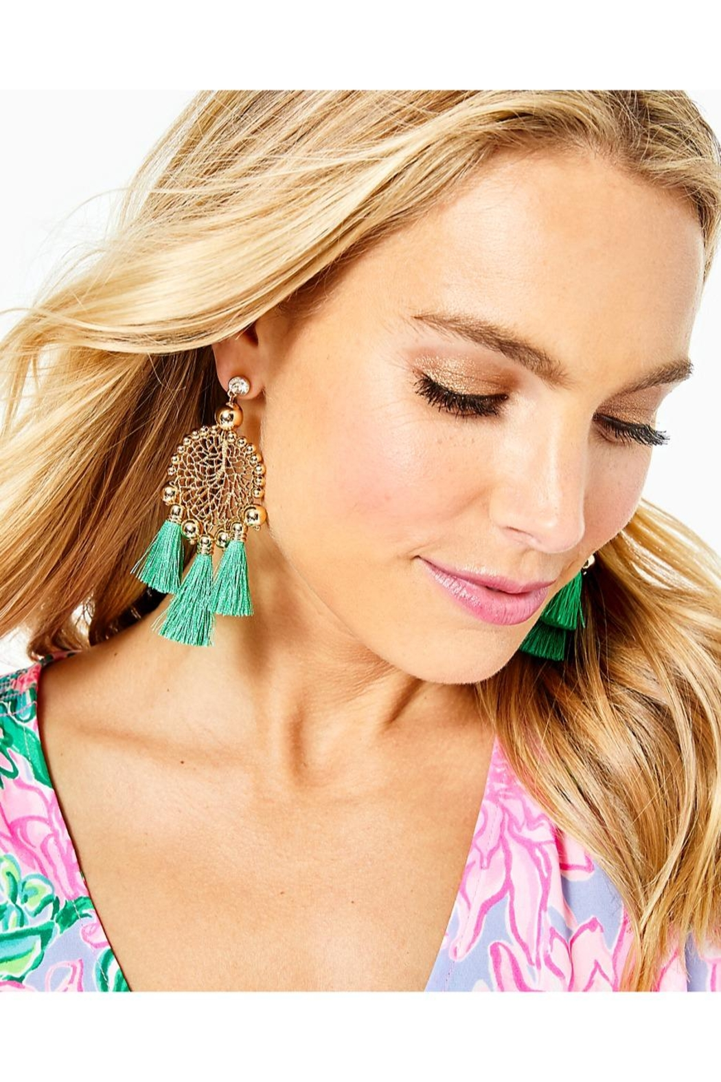 Lilly Pulitzer Sea Dreamer Earrings - Front Full Image