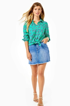 Lilly Pulitzer Sea View Button-Down-Top - Alternate List Image