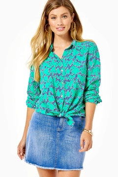 Lilly Pulitzer Sea View Button-Down-Top - Product List Image