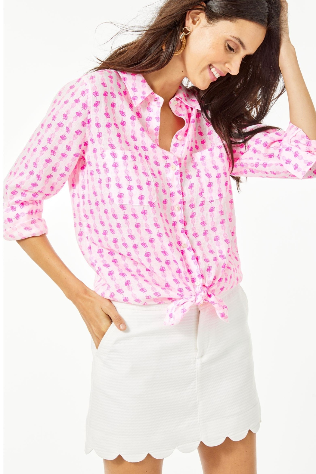 Lilly Pulitzer Sea View Top - Side Cropped Image