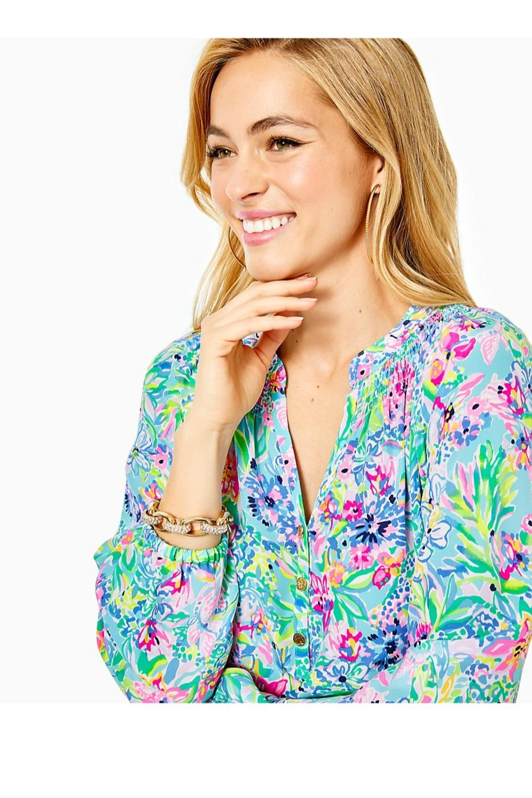 Lilly Pulitzer Sea-You-Soon Bracelet - Side Cropped Image
