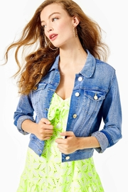 Lilly Pulitzer Seaspray Denim Jacket - Product Mini Image