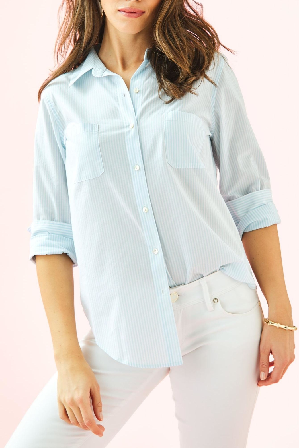 Lilly Pulitzer Seaview Button-Down Top - Main Image