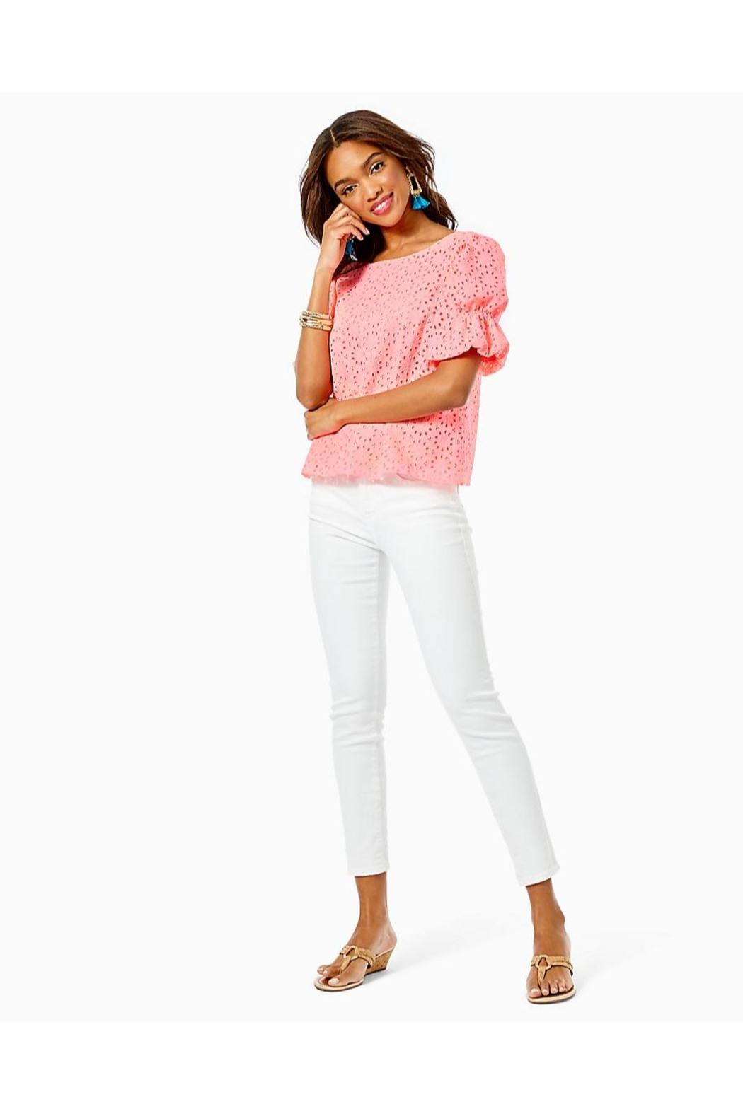 Lilly Pulitzer Shaila Top - Back Cropped Image