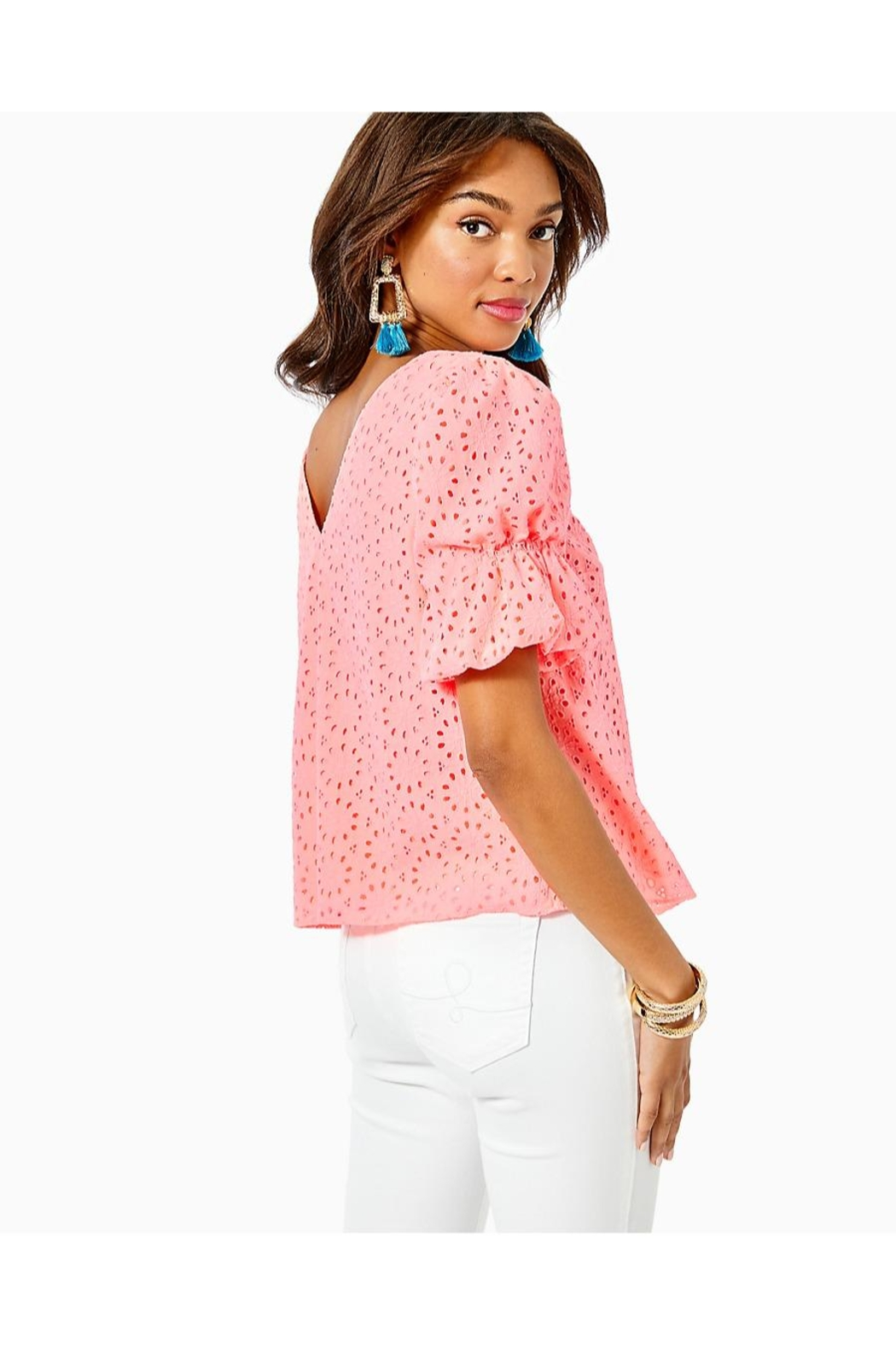 Lilly Pulitzer Shaila Top - Side Cropped Image