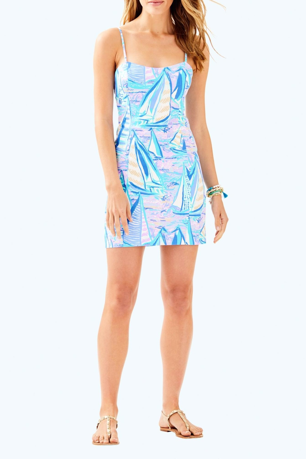 Lilly Pulitzer Shelli Stretch Dress - Back Cropped Image