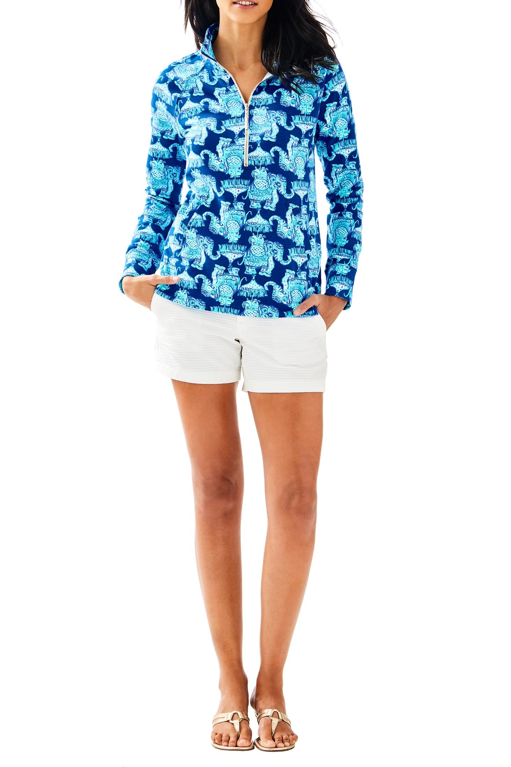 Lilly Pulitzer Skipper Printed Popover - Side Cropped Image