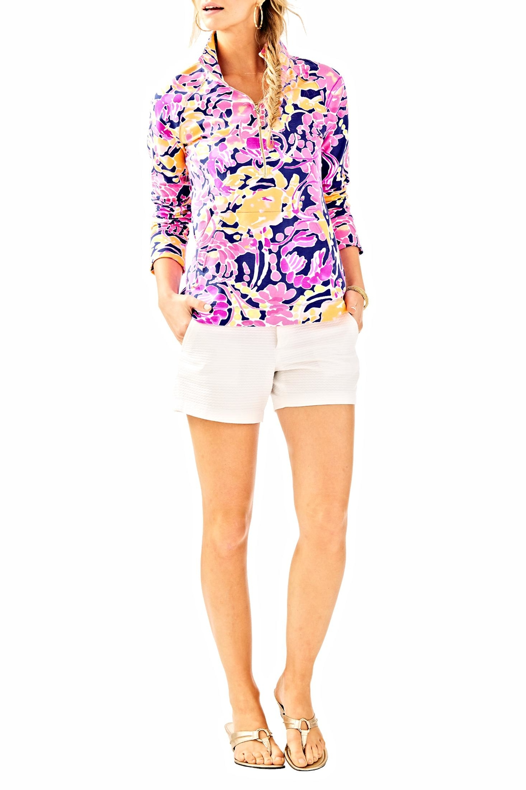 Lilly Pulitzer Skipper Printed Popover Sweater - Side Cropped Image