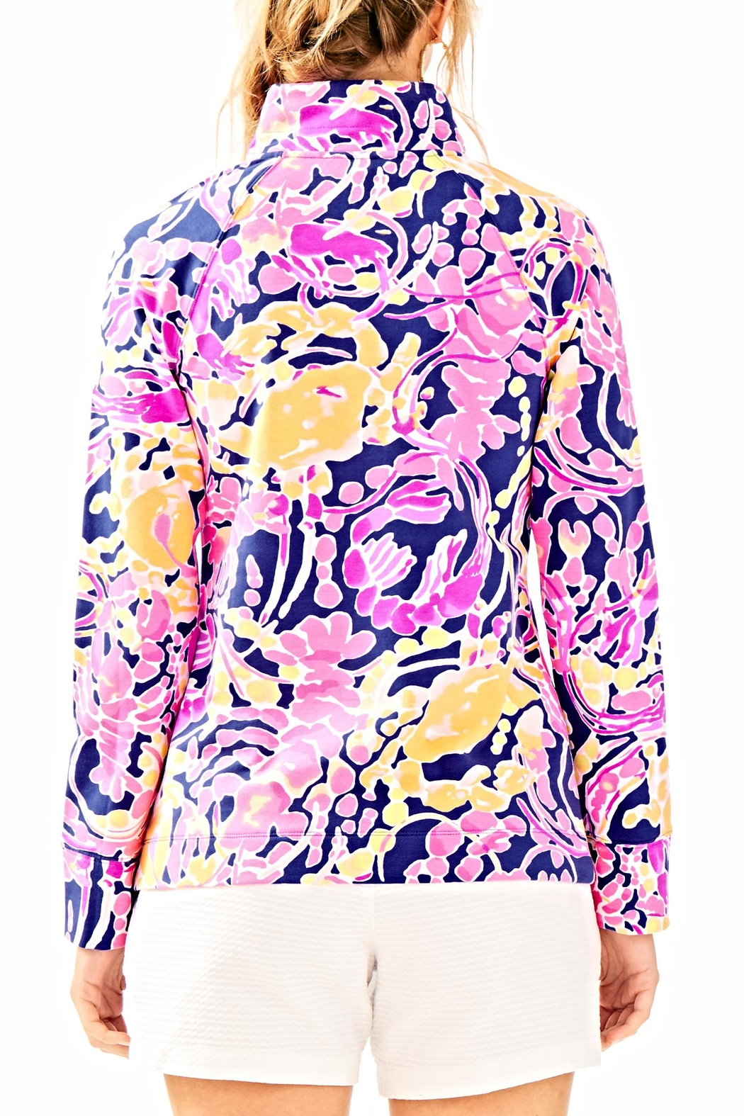 Lilly Pulitzer Skipper Printed Popover Sweater - Front Full Image