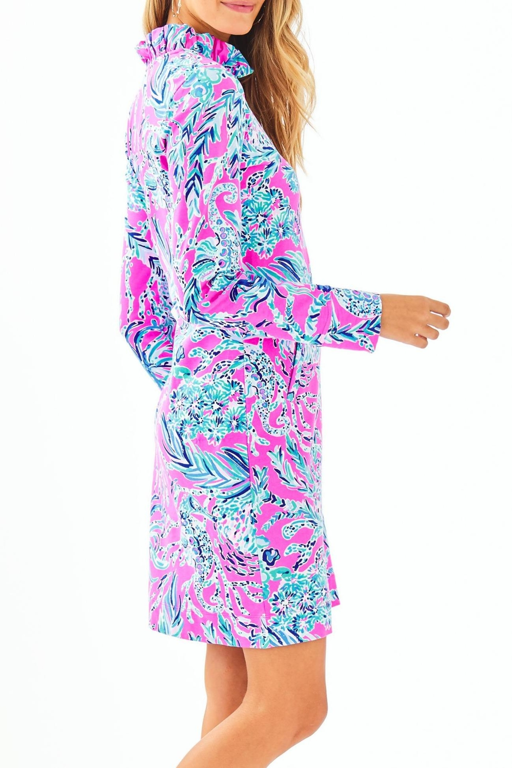 Lilly Pulitzer Skipper Ruffle Dress - Side Cropped Image