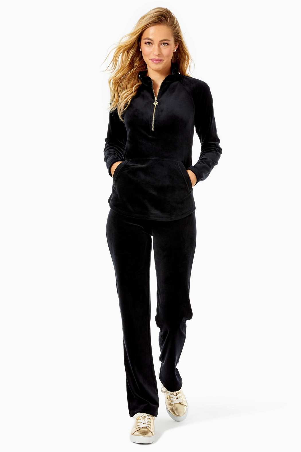 Lilly Pulitzer Skipper Velour Popover - Side Cropped Image