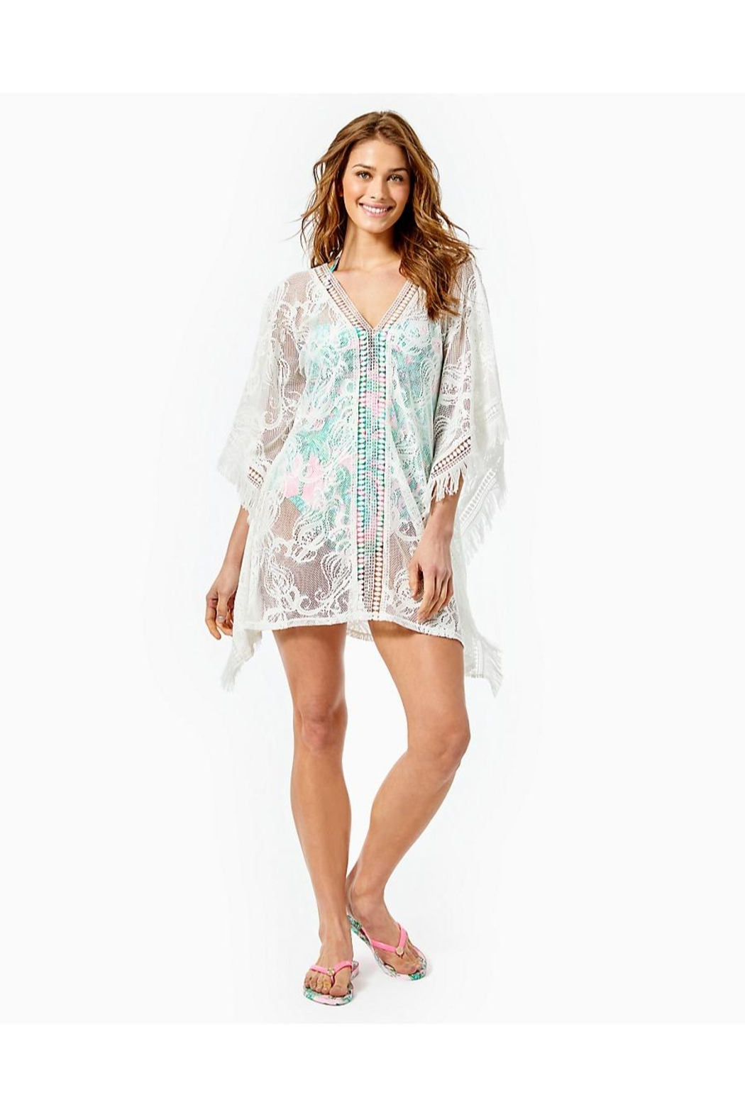 Lilly Pulitzer Skyla Caftan Cover-Up - Back Cropped Image