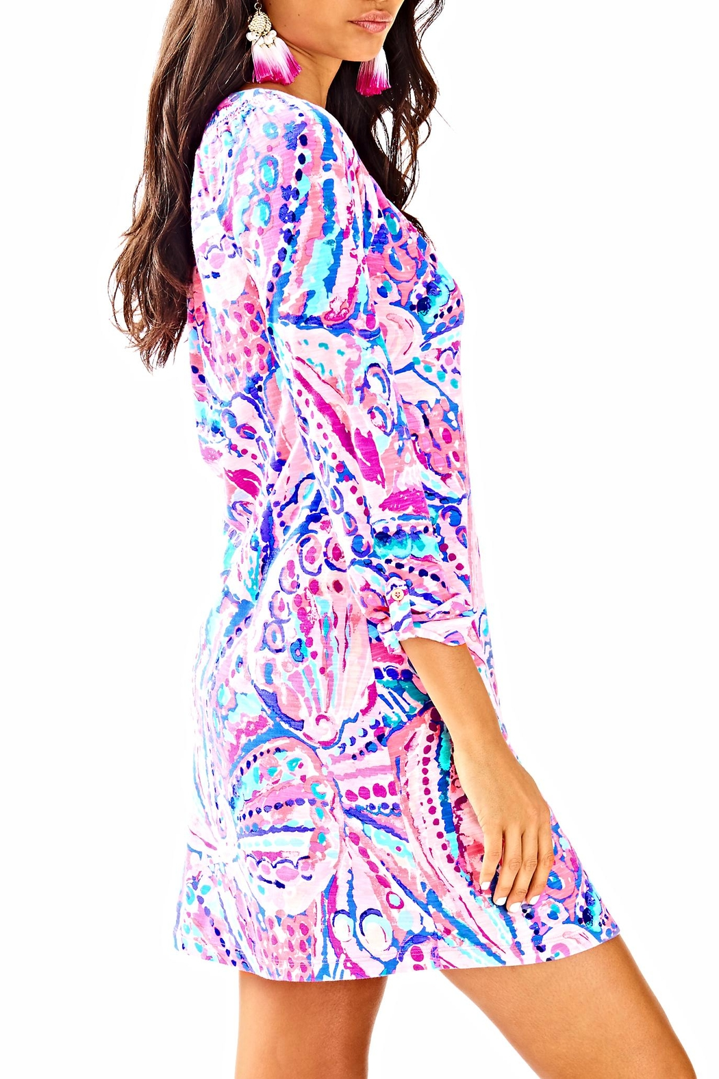 Lilly Pulitzer Sleeved Essie Dress - Side Cropped Image