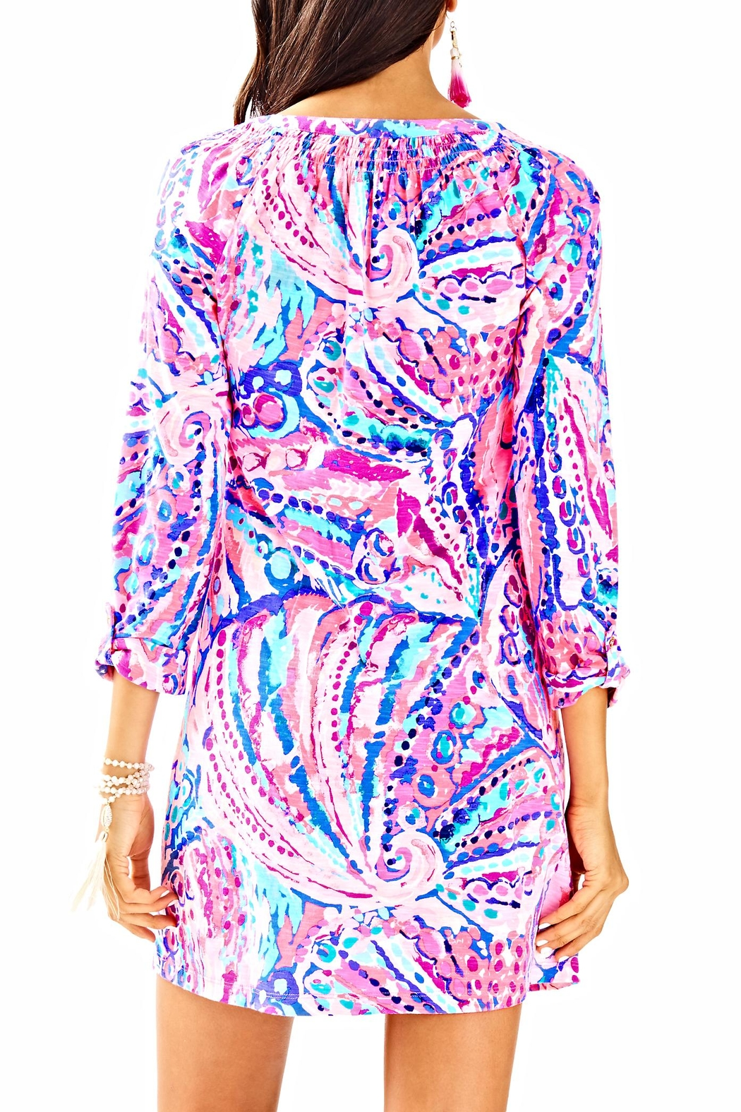 Lilly Pulitzer Sleeved Essie Dress - Front Full Image