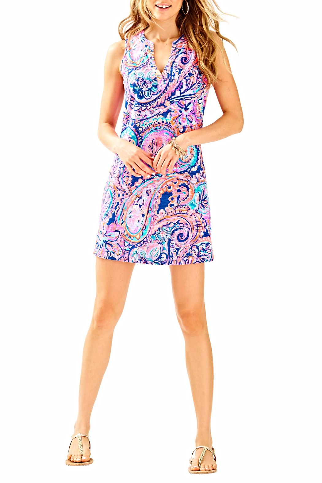 Lilly Pulitzer Sleeveless Dev Dress - Side Cropped Image