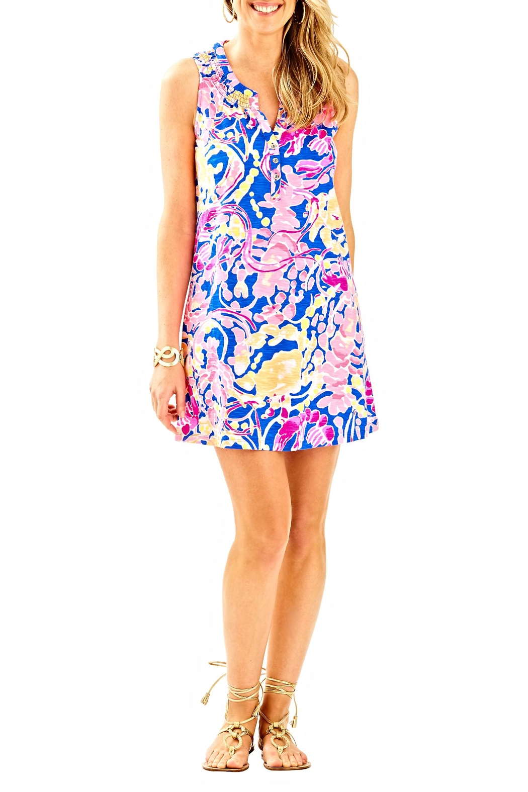 Lilly Pulitzer Sleeveless Essie Dress - Back Cropped Image