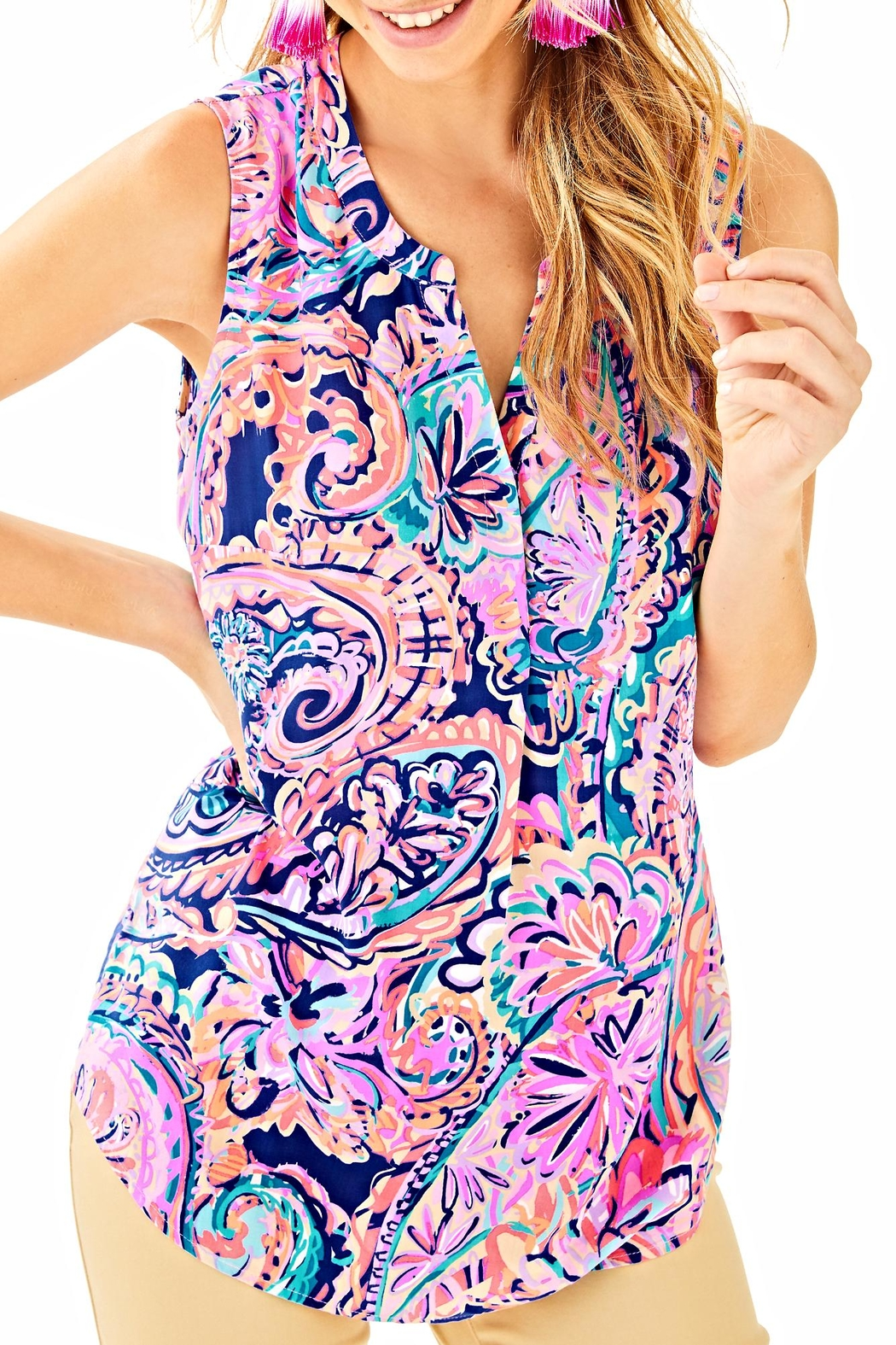 Lilly Pulitzer Sleeveless Stacey Top - Main Image
