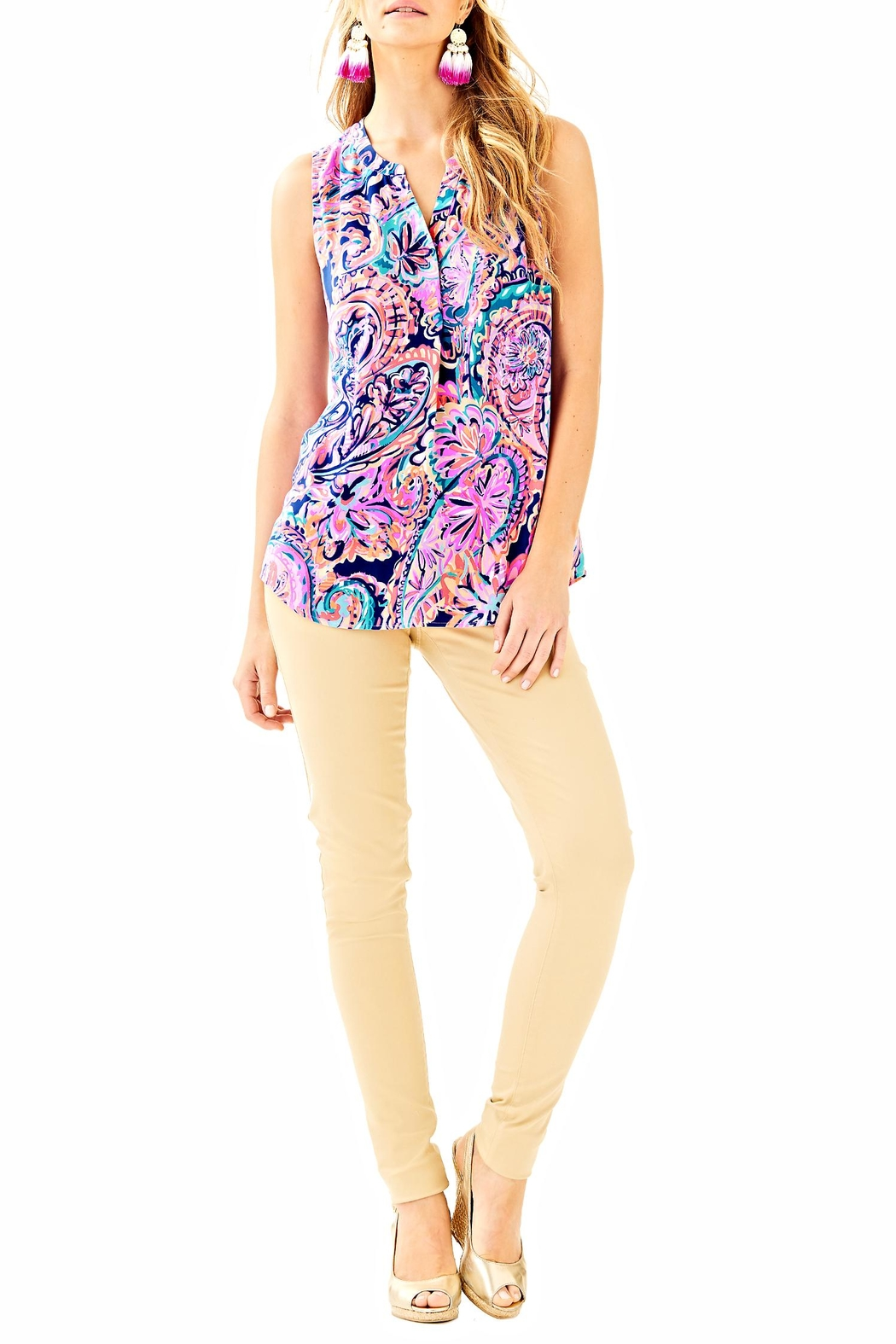 Lilly Pulitzer Sleeveless Stacey Top - Front Cropped Image