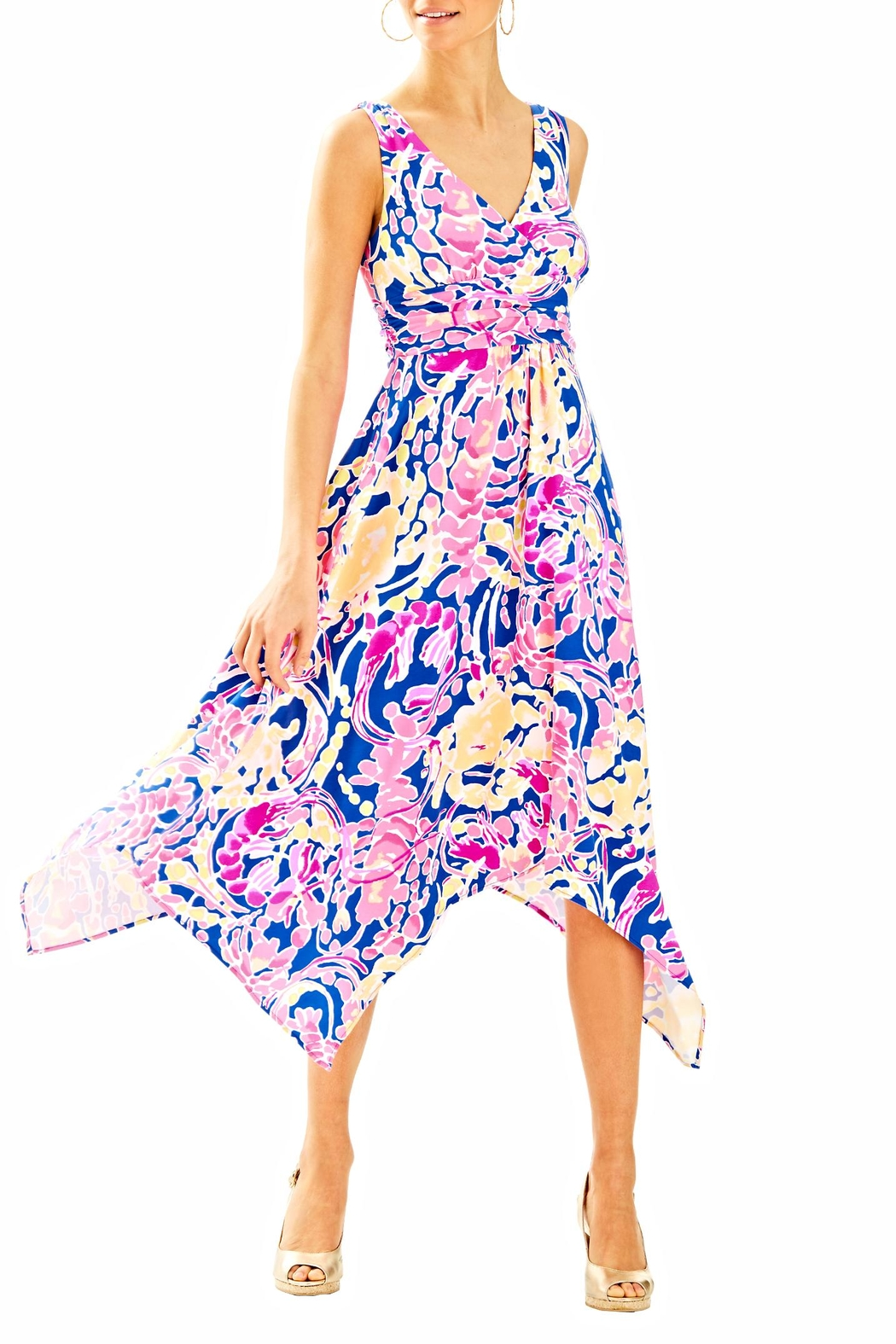 Lilly Pulitzer Sloane Midi Dress - Back Cropped Image