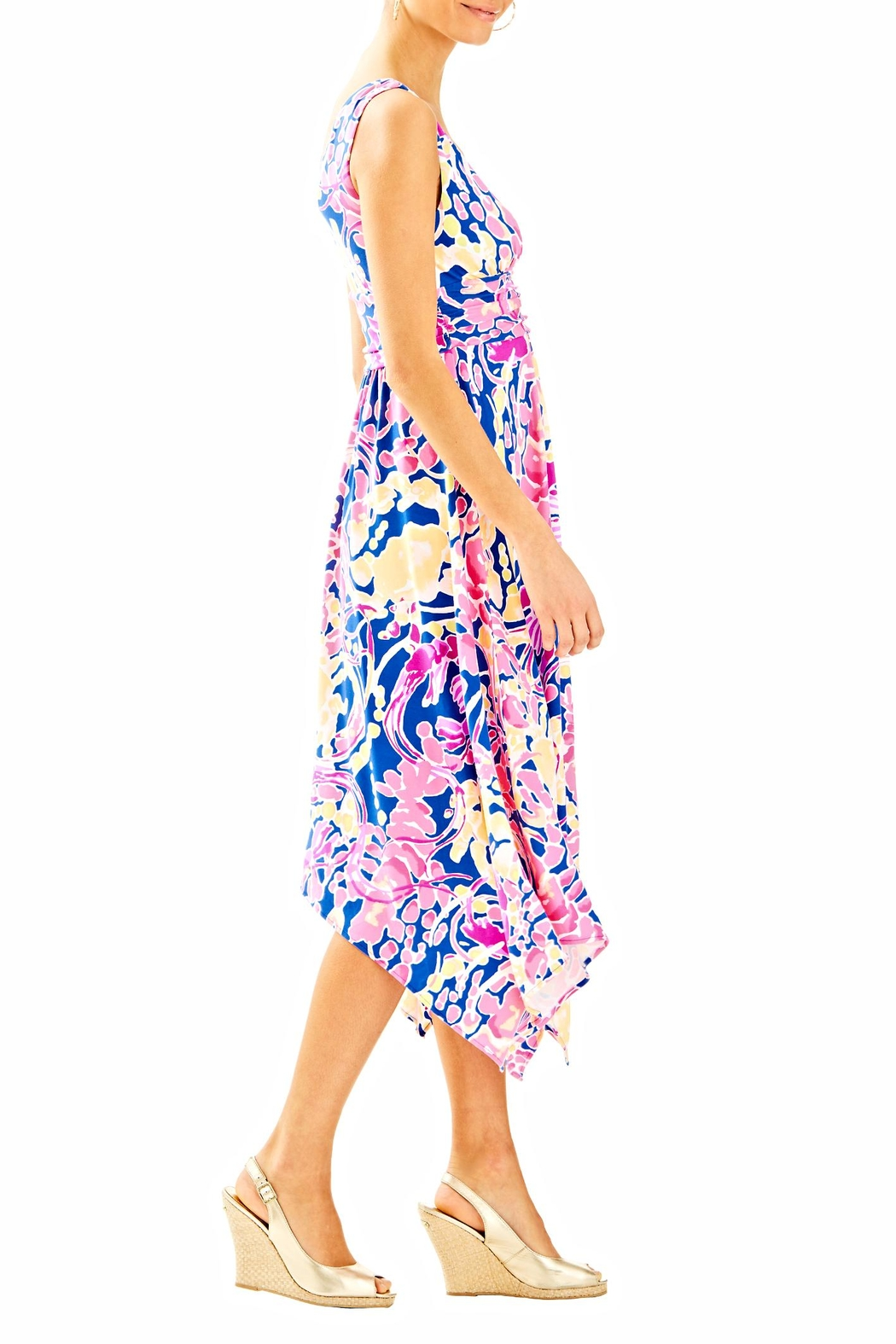 Lilly Pulitzer Sloane Midi Dress - Side Cropped Image