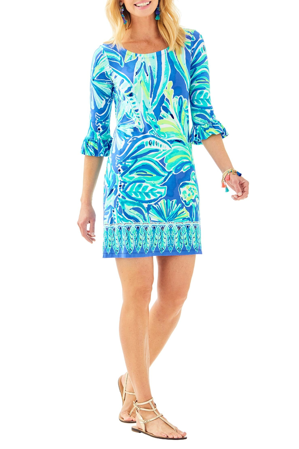 Lilly Pulitzer Sophie Ruffle Dress - Back Cropped Image
