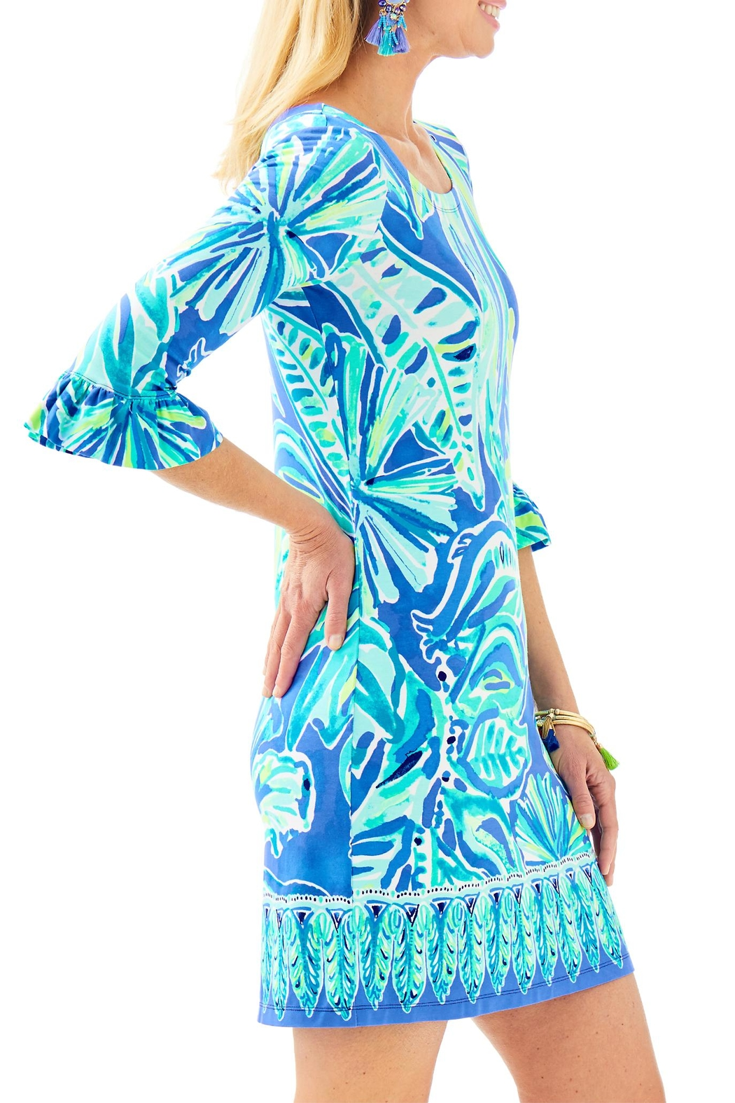 Lilly Pulitzer Sophie Ruffle Dress - Side Cropped Image