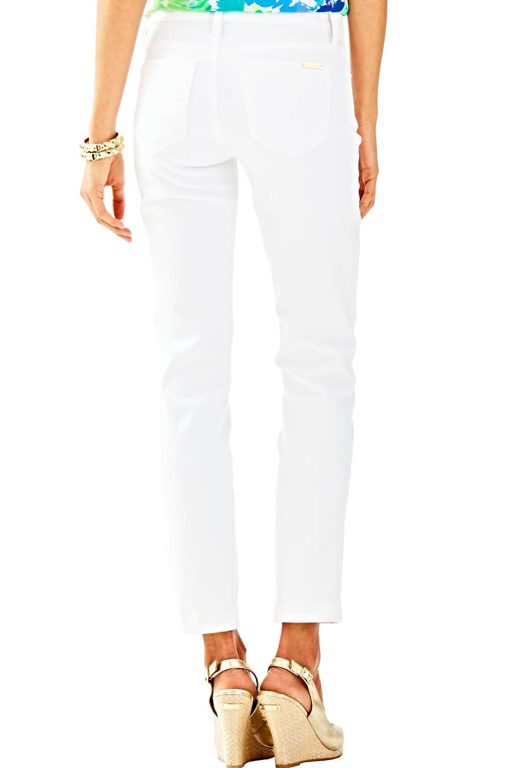 Lilly Pulitzer South Ocean Crop Jean - Front Full Image
