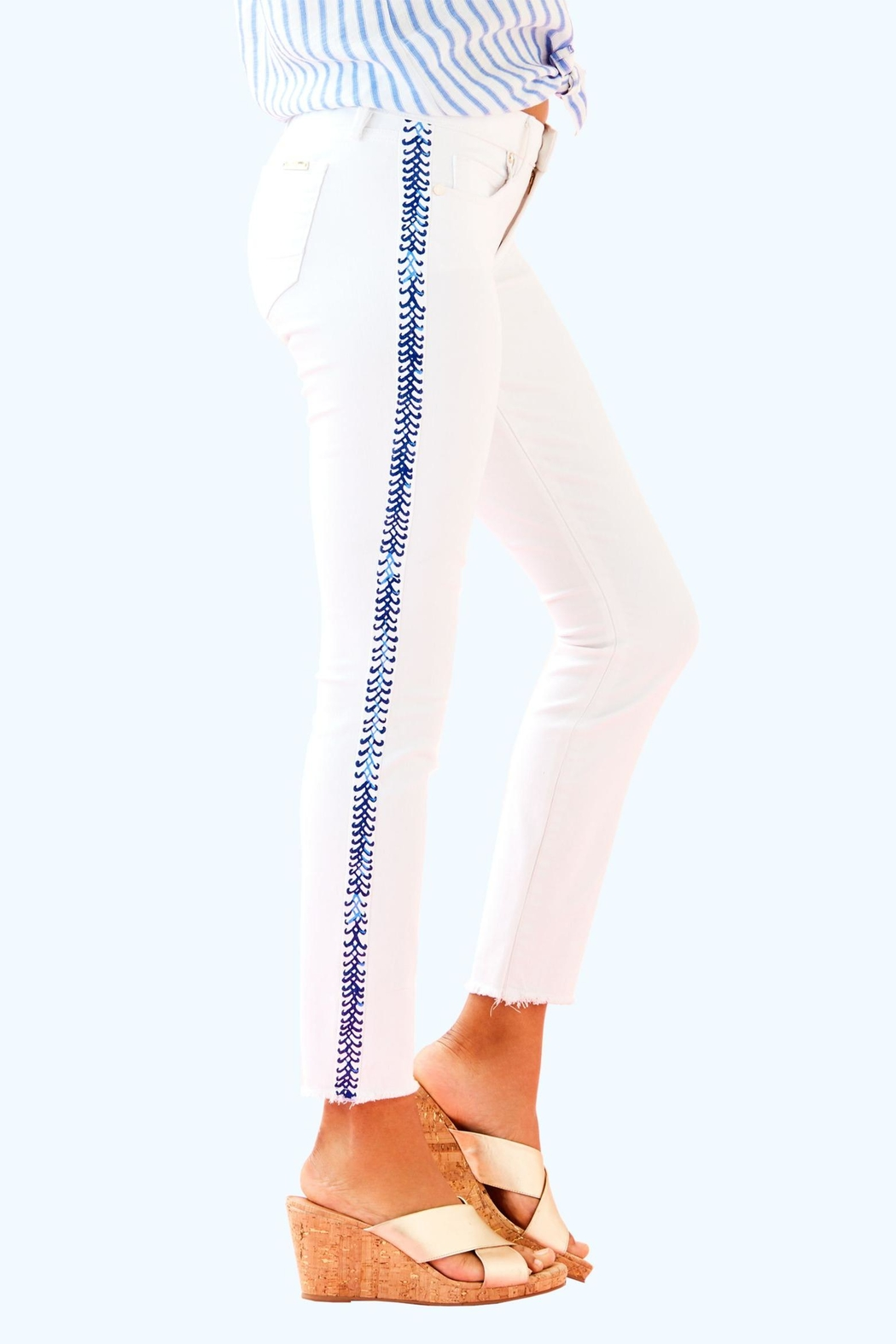 Lilly Pulitzer South Ocean Pant - Side Cropped Image