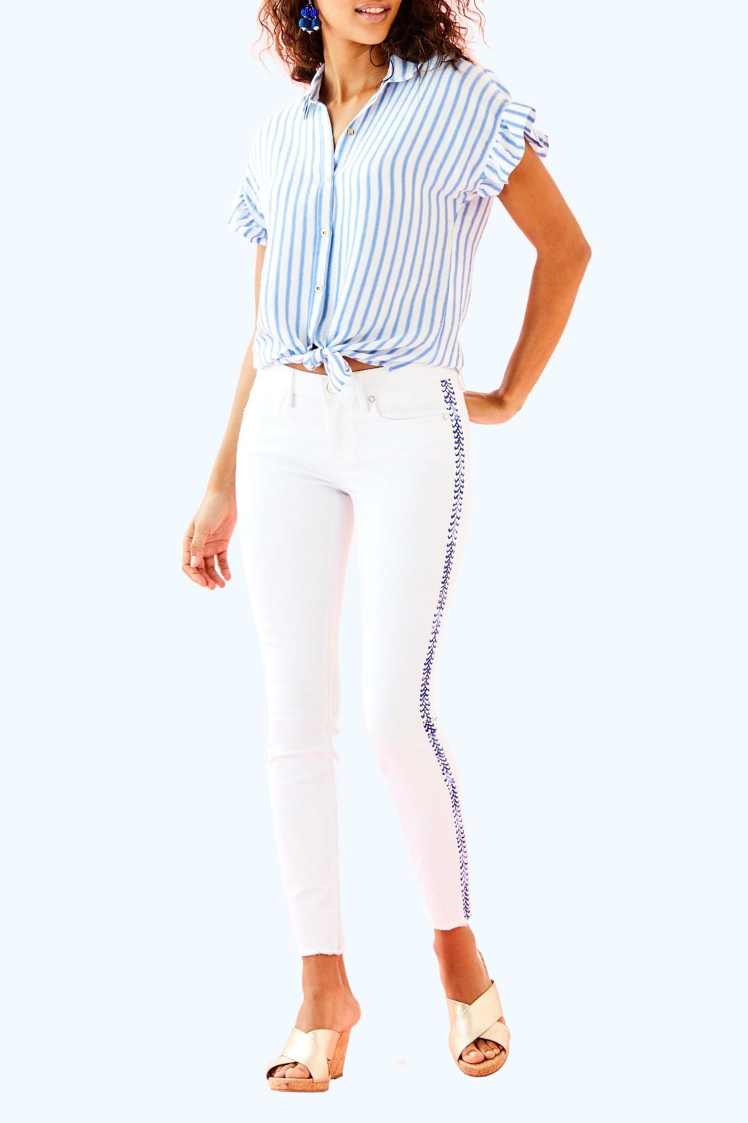 Lilly Pulitzer South Ocean Pant - Back Cropped Image