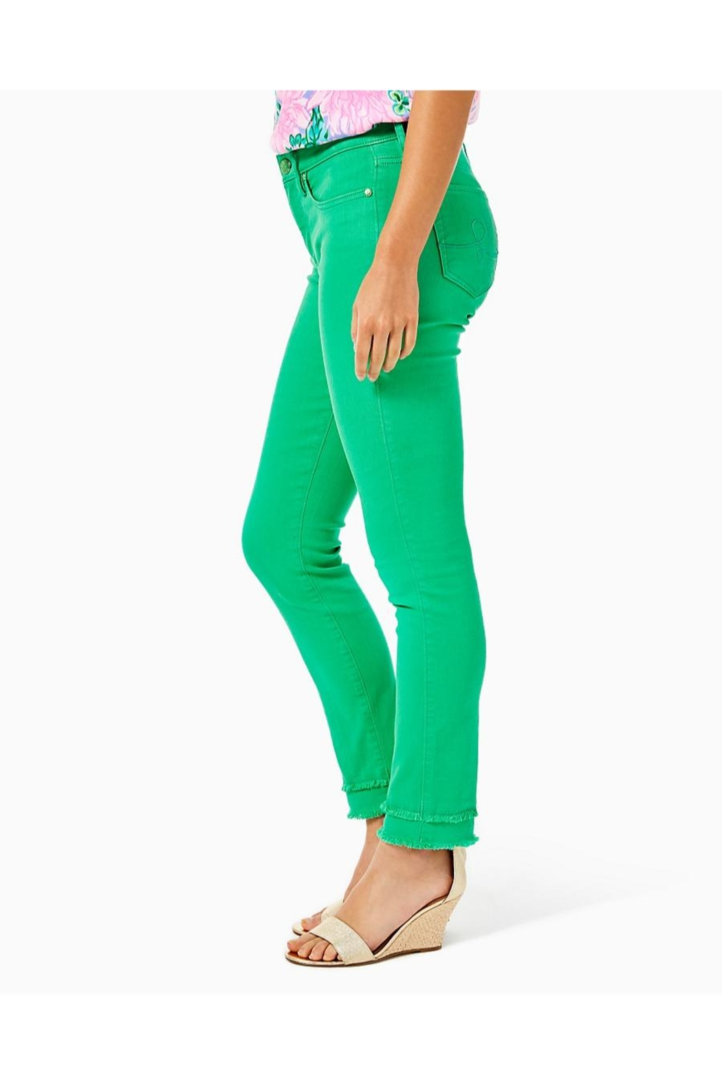 Lilly Pulitzer South Ocean Skinny-Jean - Side Cropped Image