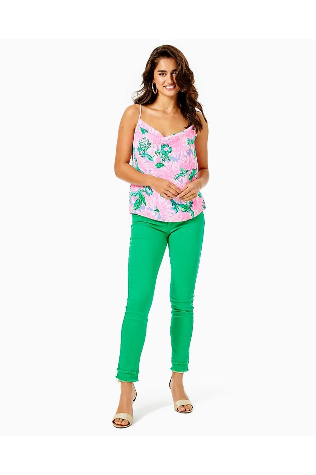 Lilly Pulitzer South Ocean Skinny-Jean - Back Cropped Image