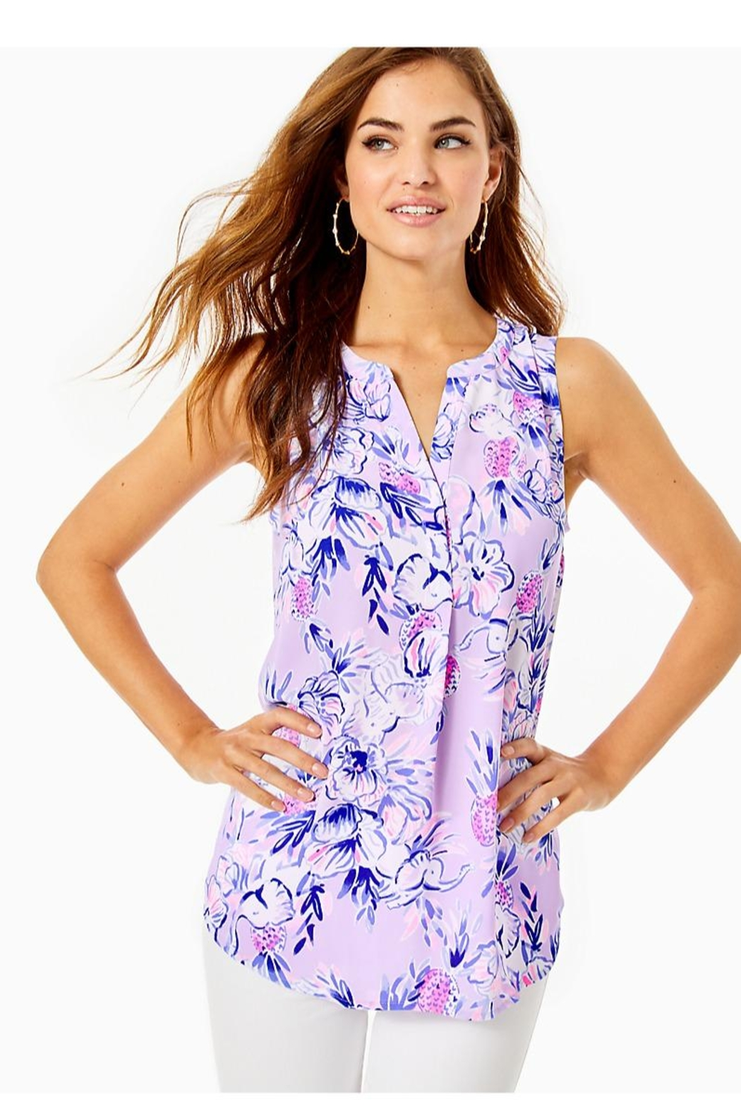 Lilly Pulitzer Stacey Sleeveless Top - Main Image