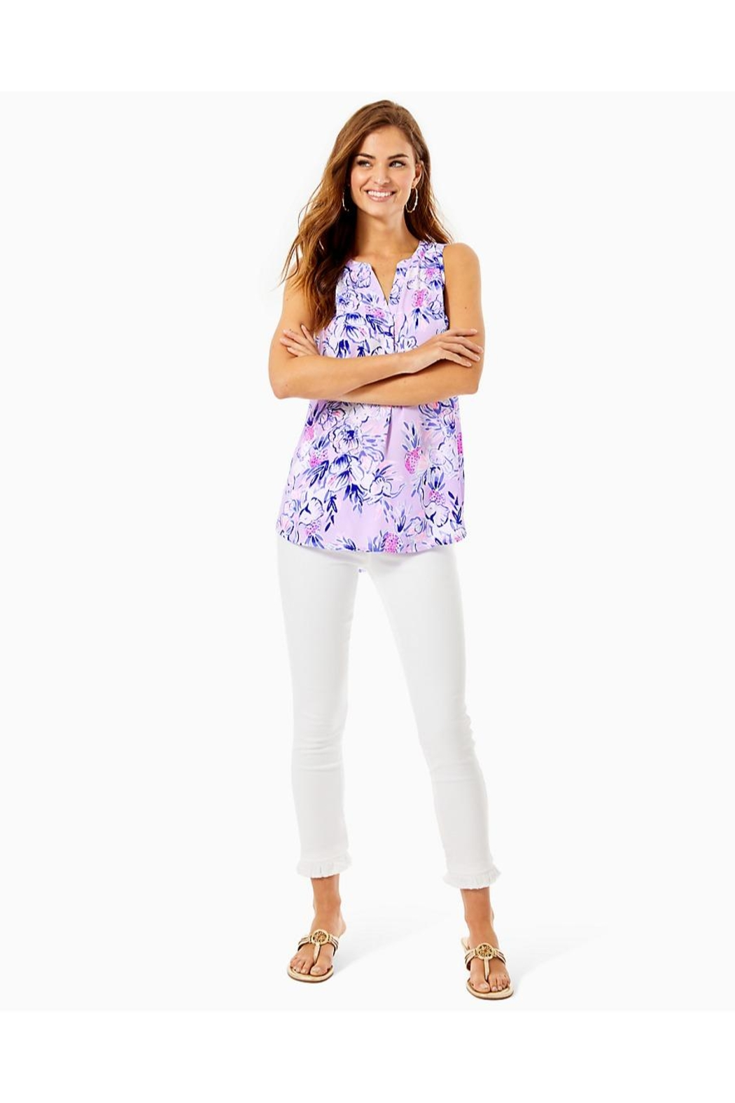 Lilly Pulitzer Stacey Sleeveless Top - Side Cropped Image