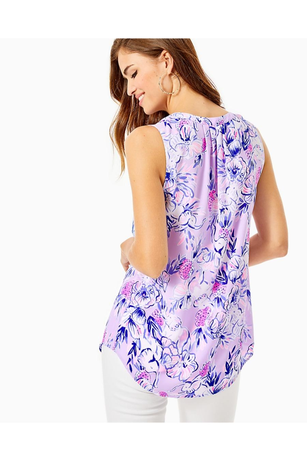 Lilly Pulitzer Stacey Sleeveless Top - Front Full Image