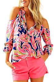 Lilly Pulitzer Sunny Shoulder Elsa Top - Product Mini Image