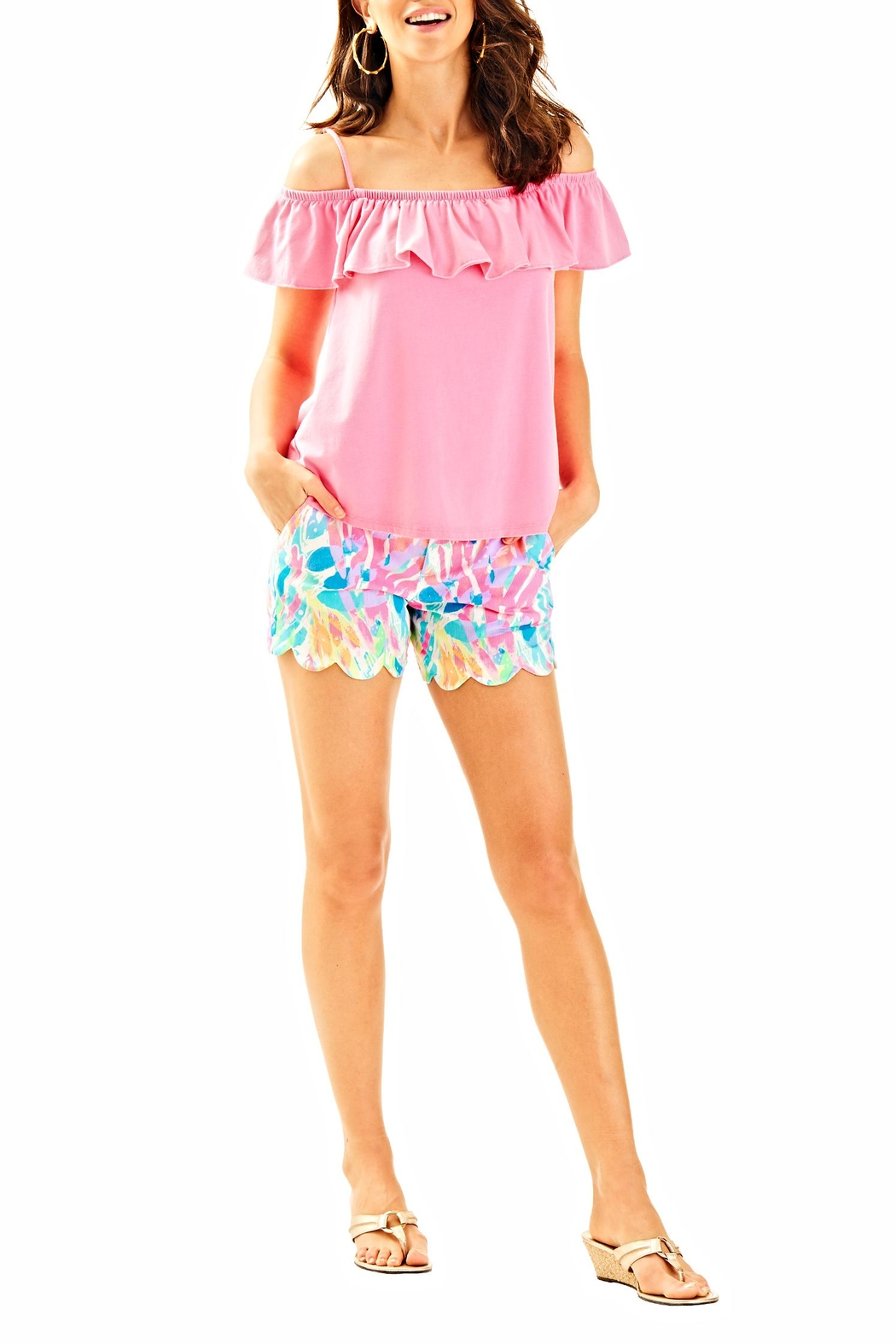 Lilly Pulitzer Tamiami Top - Side Cropped Image
