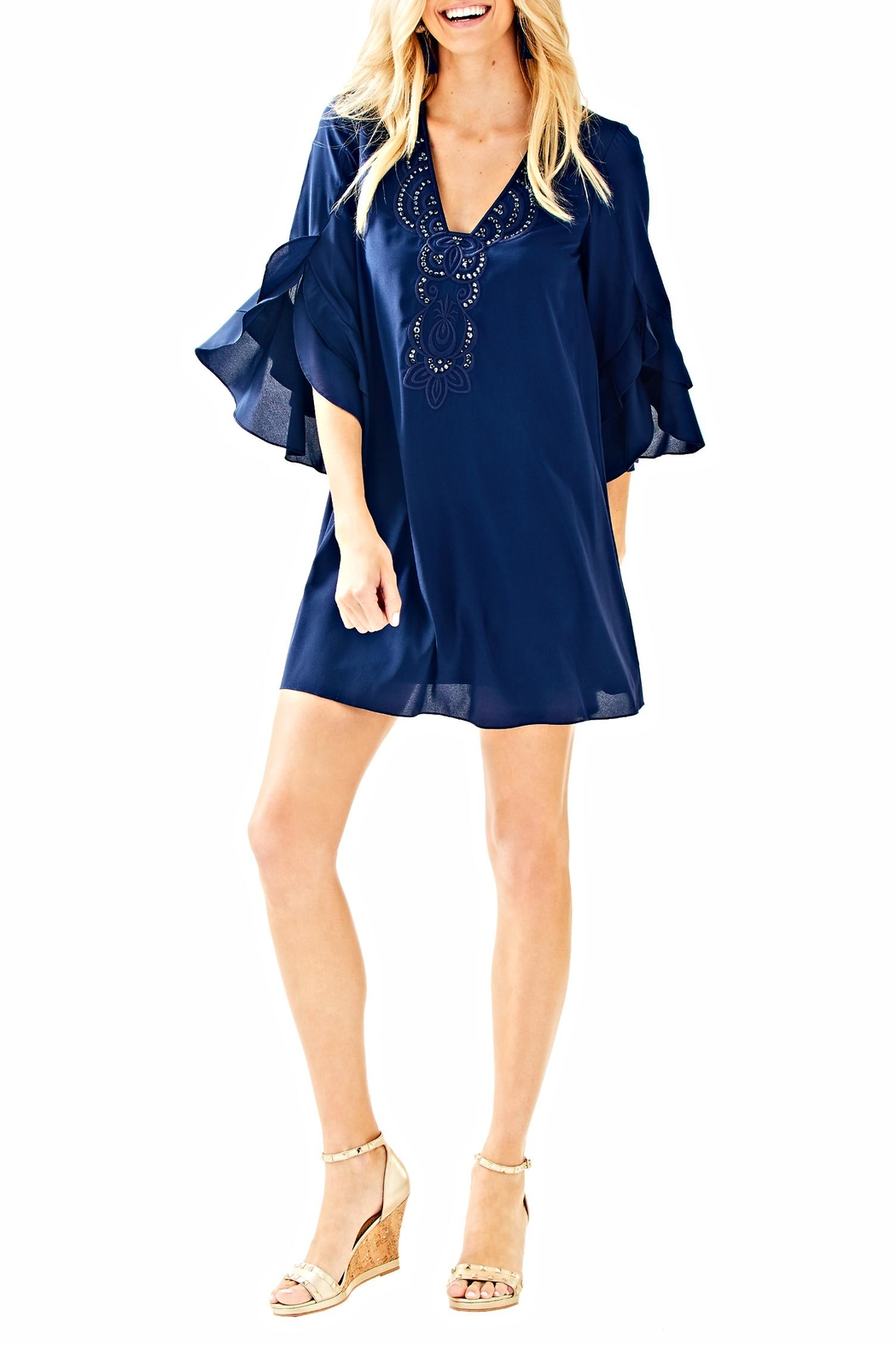 Lilly Pulitzer Tatiana Tunic Dress - Front Cropped Image