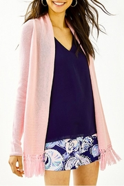 Lilly Pulitzer Tatum Long Fringe Hem Cardigan - Side cropped