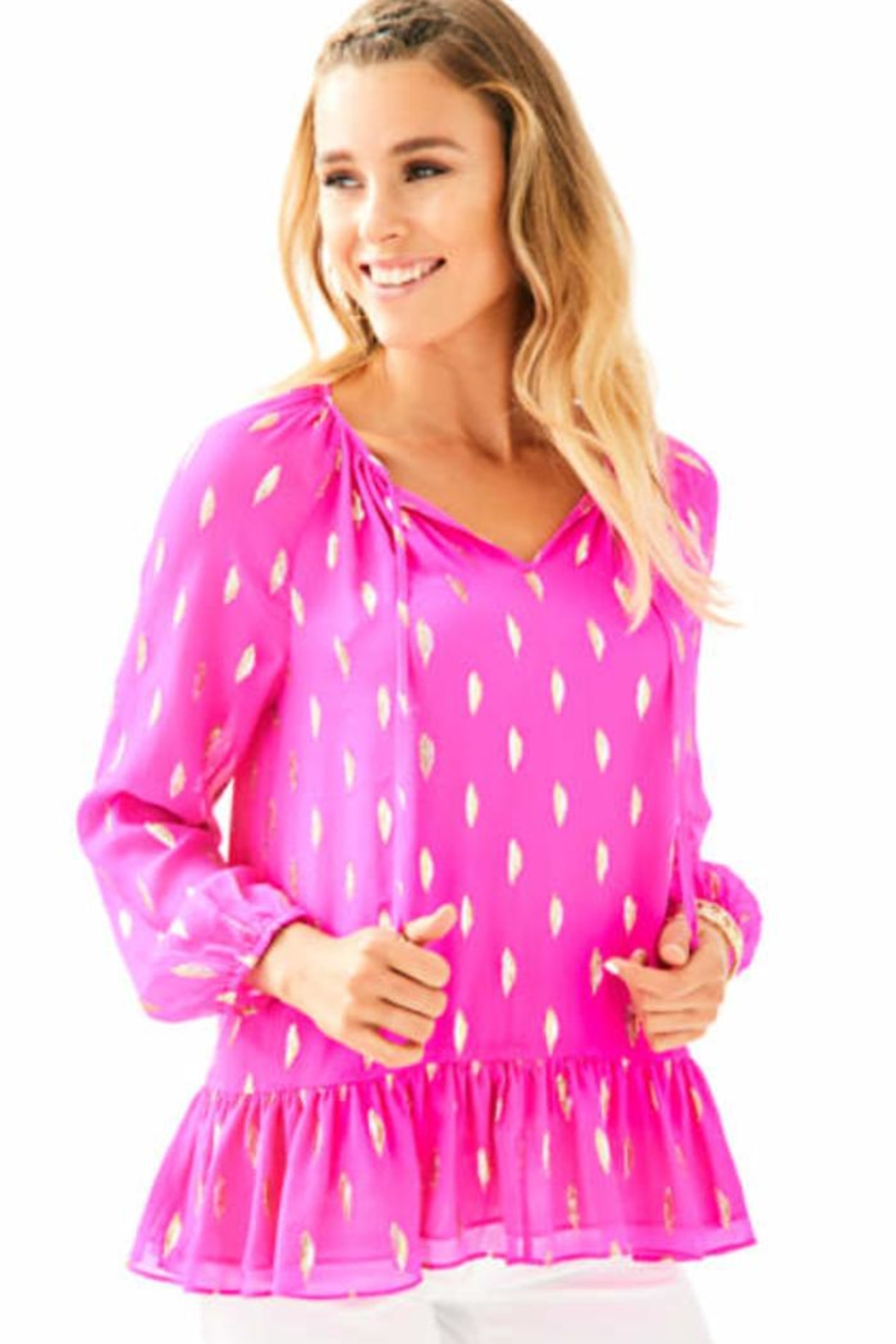 Lilly Pulitzer Tensley Silk Top - Main Image