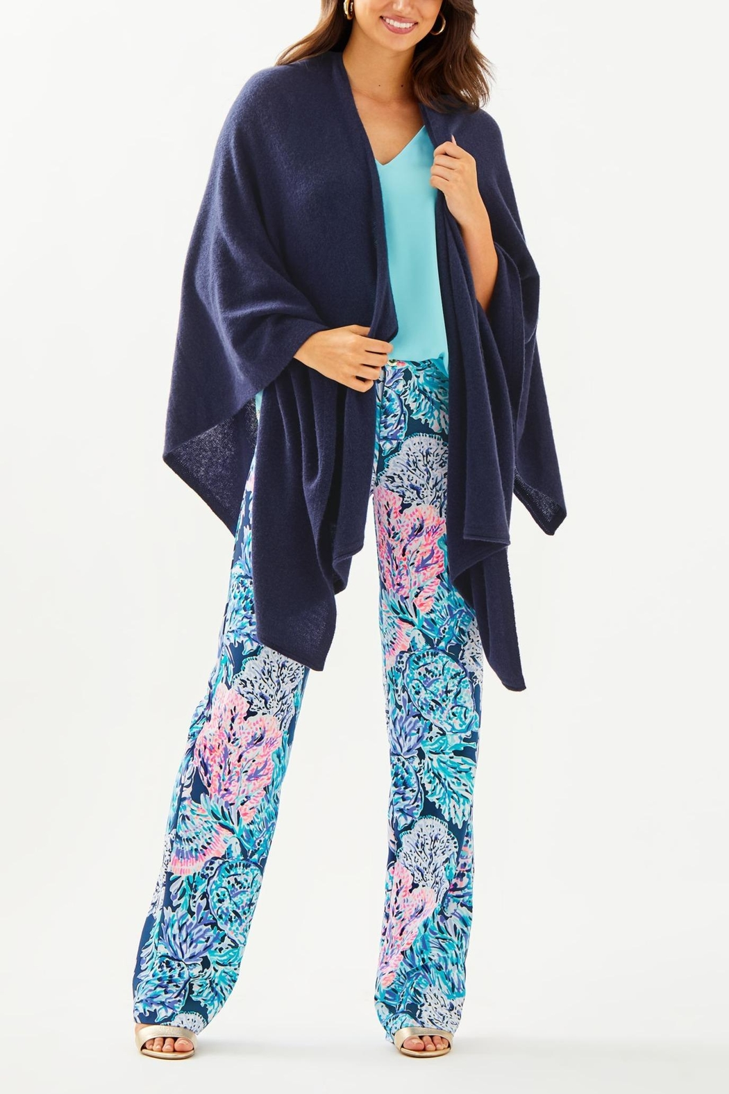 Lilly Pulitzer Terri Cashmere Wrap - Side Cropped Image