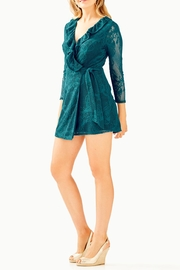 Lilly Pulitzer Tiki Ruffle Romper - Back cropped