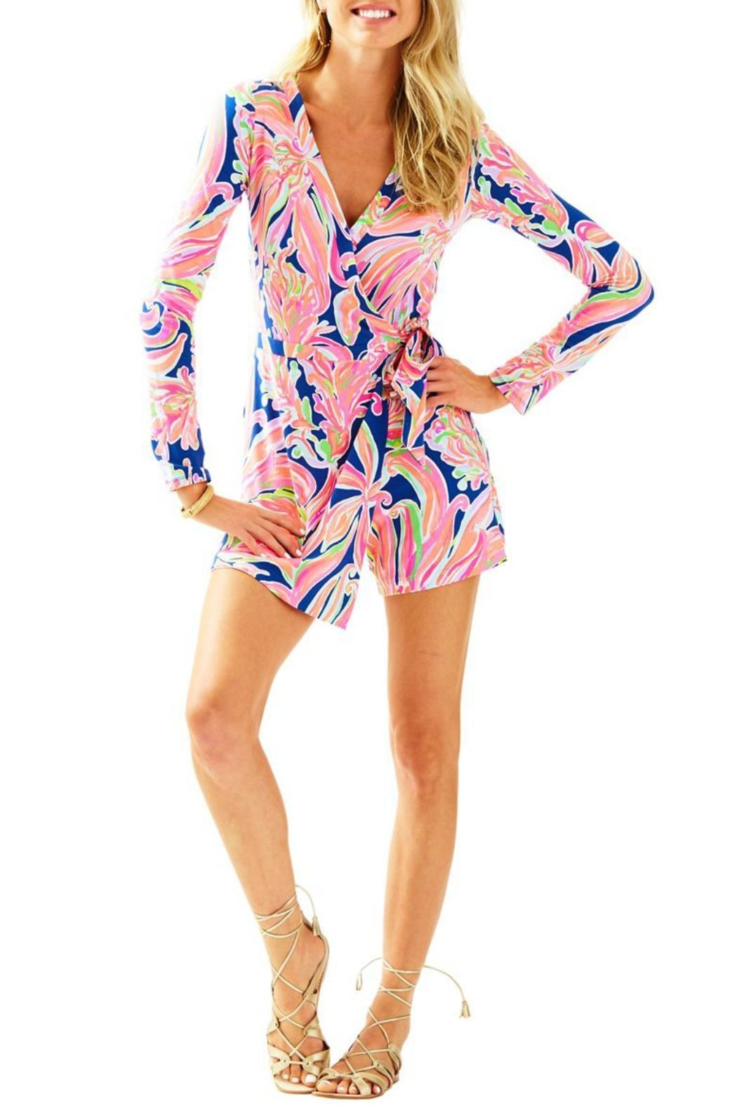 Lilly Pulitzer Tiki Wrap Romper From Massachusetts By