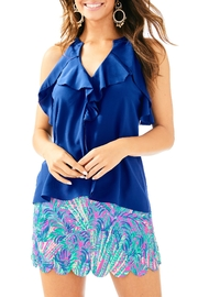 Lilly Pulitzer Tita Silk Top - Product Mini Image