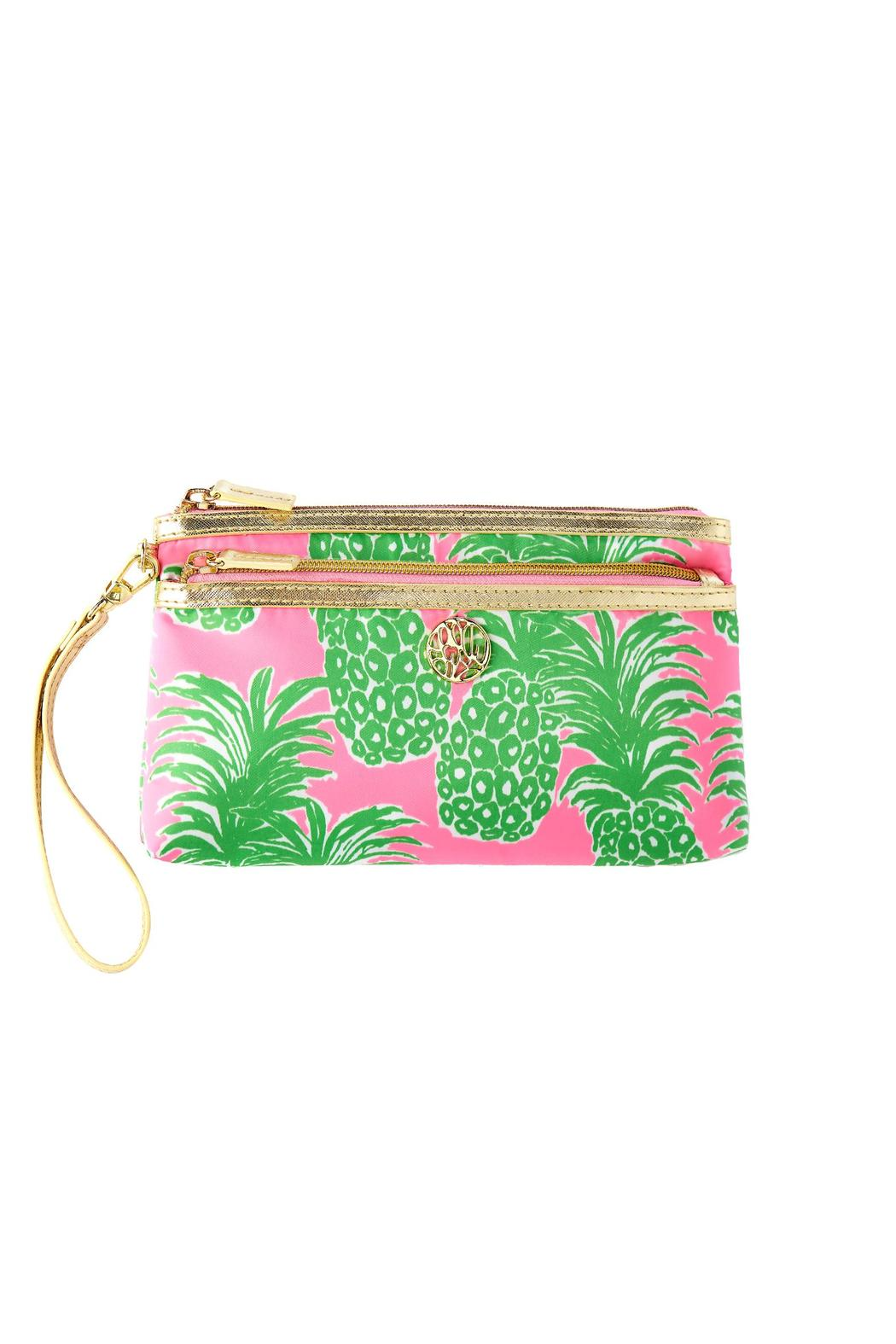 Lilly Pulitzer Toosie Double Pouch Wristlet   Front Cropped Image