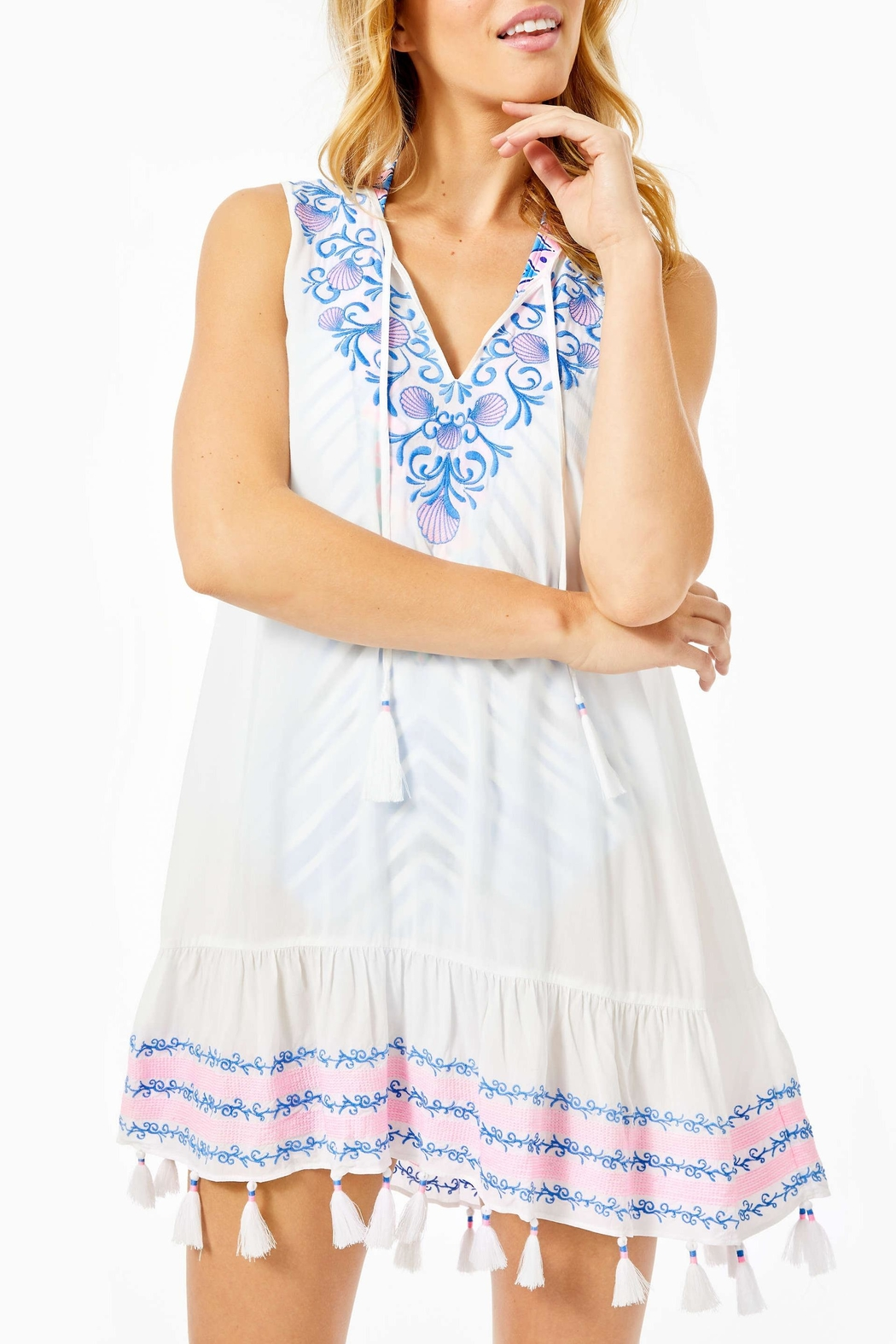 Lilly Pulitzer Totti Embroidery Cover-Up - Main Image