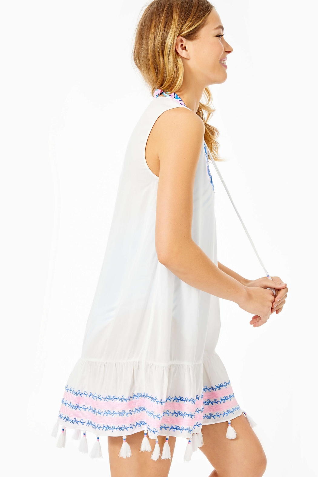 Lilly Pulitzer Totti Embroidery Cover-Up - Side Cropped Image