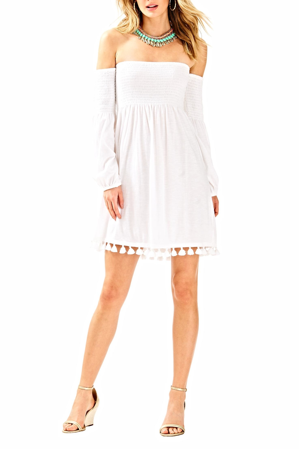 Lilly Pulitzer White Beach Dress - Back Cropped Image