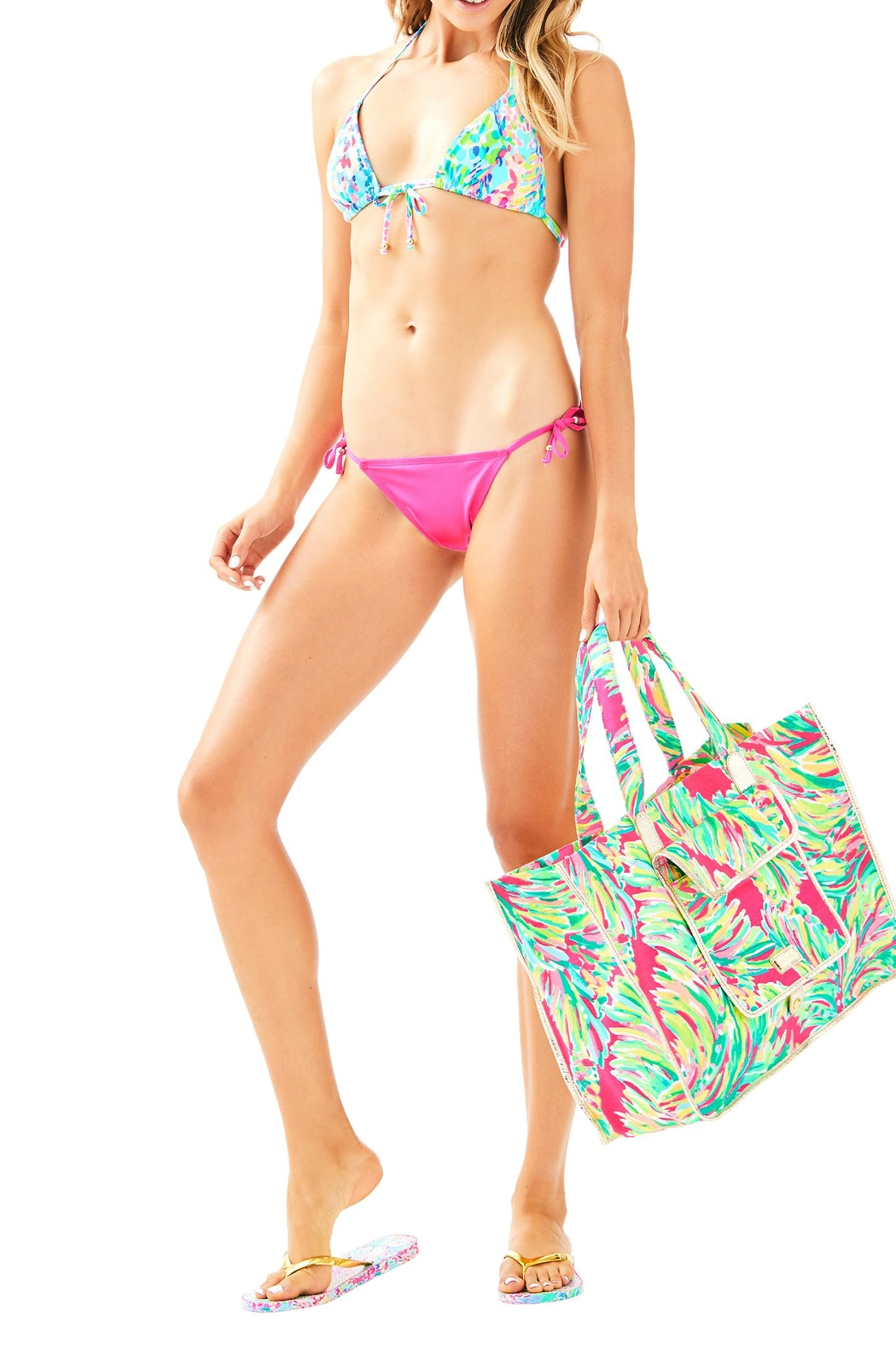 Lilly Pulitzer Tropic Bikini Bottom - Side Cropped Image