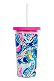 Lilly Pulitzer Tumbler With Straw - Product Mini Image